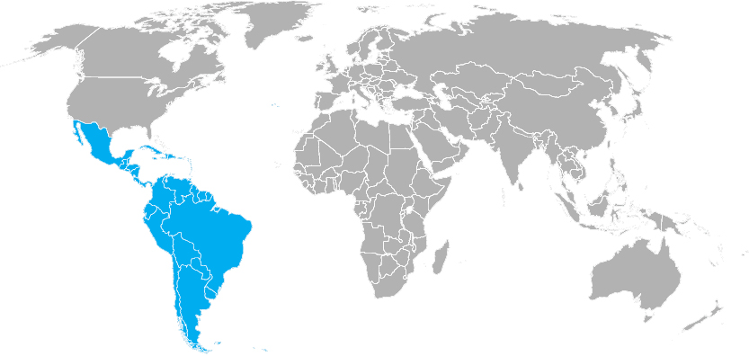 Region:  Latin America Map